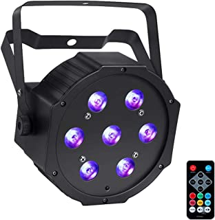 LED Stage Lights, YeeSite 70W 7LEDs RGBW 4 in 1 Par Can Sound Activated by Remote and DMX Control for Church Wedding DJ Party Stage Lighting