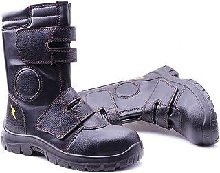 ZYFXZ Étanche Hommes Noir Premium High Aide Bottes, Chaussures en acier Cap Chaussures de sécurité, chaussures de protecti...