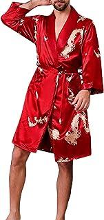 Nerefy Mens Pajamas Cotton Striped Mens Pajama Set Long-Sleeve Plus Size Sleepwear