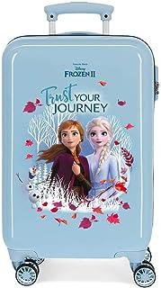 Disney Frozen Trust your journey Maleta de cabina Azul 37x55x20 cms Rígida ABS Cierre combinación 32L 2,5Kgs 4 ruedas dobl...
