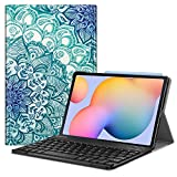 Fintie Keyboard Case for Samsung Galaxy Tab S6 Lite 10.4'' 2020 Model SM-P610 (Wi-Fi) SM-P615 (LTE), Slim Stand Cover with Secure S Pen Holder Detachable Wireless Bluetooth Keyboard, E-Illusions