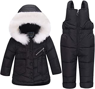 M/&A Girls Cotton Padded PU Leather Jacket Double-Breasted Dress Coat Autumn Winter Warm Outerwear