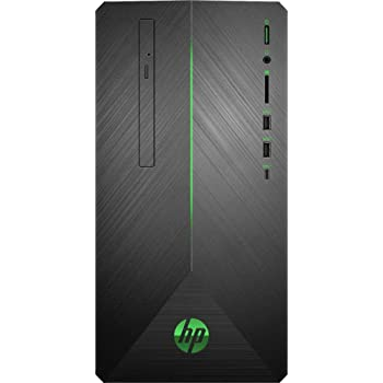 HP Pavilion 690 VR Ready Gaming Desktop Computer AMD Ryzen 5 2400G Quad-Core Up to 3.9GHz 8GB DDR4 1TB 7200 RPM HDD + 128GB SSD AMD Radeon Rx 580 DVDRW Windows 10