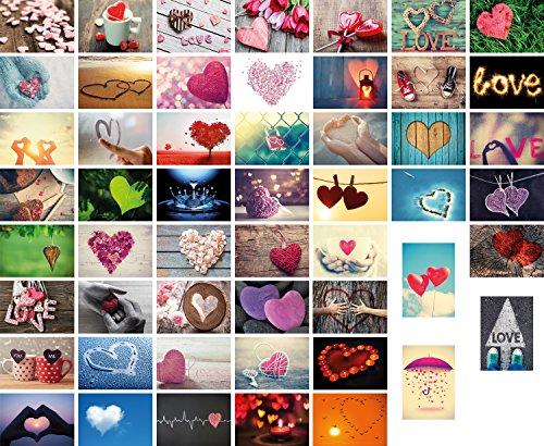 52 Liebespostkarten Hochzeit, 52 Wochen (ein Jahr) jede Woche eine Postkarte, Hochzeitsspiel, Hochzeitsgeschenk, Postkarten Spiel Ehe (52 Liebespostkarten)