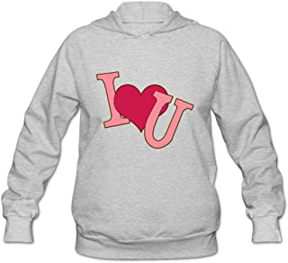 I Love You Clip Art Religion 100% Cotton Long Sleeve Hoodie For Women's