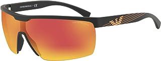 امبوريو ارماني نظارة شمسية مستطيل للرجال - زهري، EA4116 50426Q 42