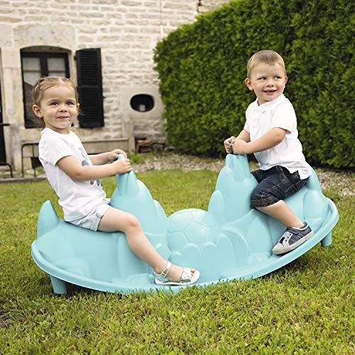 Smoby - Balancelle pour Enfant à assises en Forme de Chiens Bleu