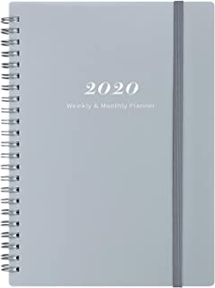 2020 Planner - Weekly & Monthly Planner with Tabs, Elastic Closure and Thick Paper, Back Pocket with 21 Notes Pages, 6.25