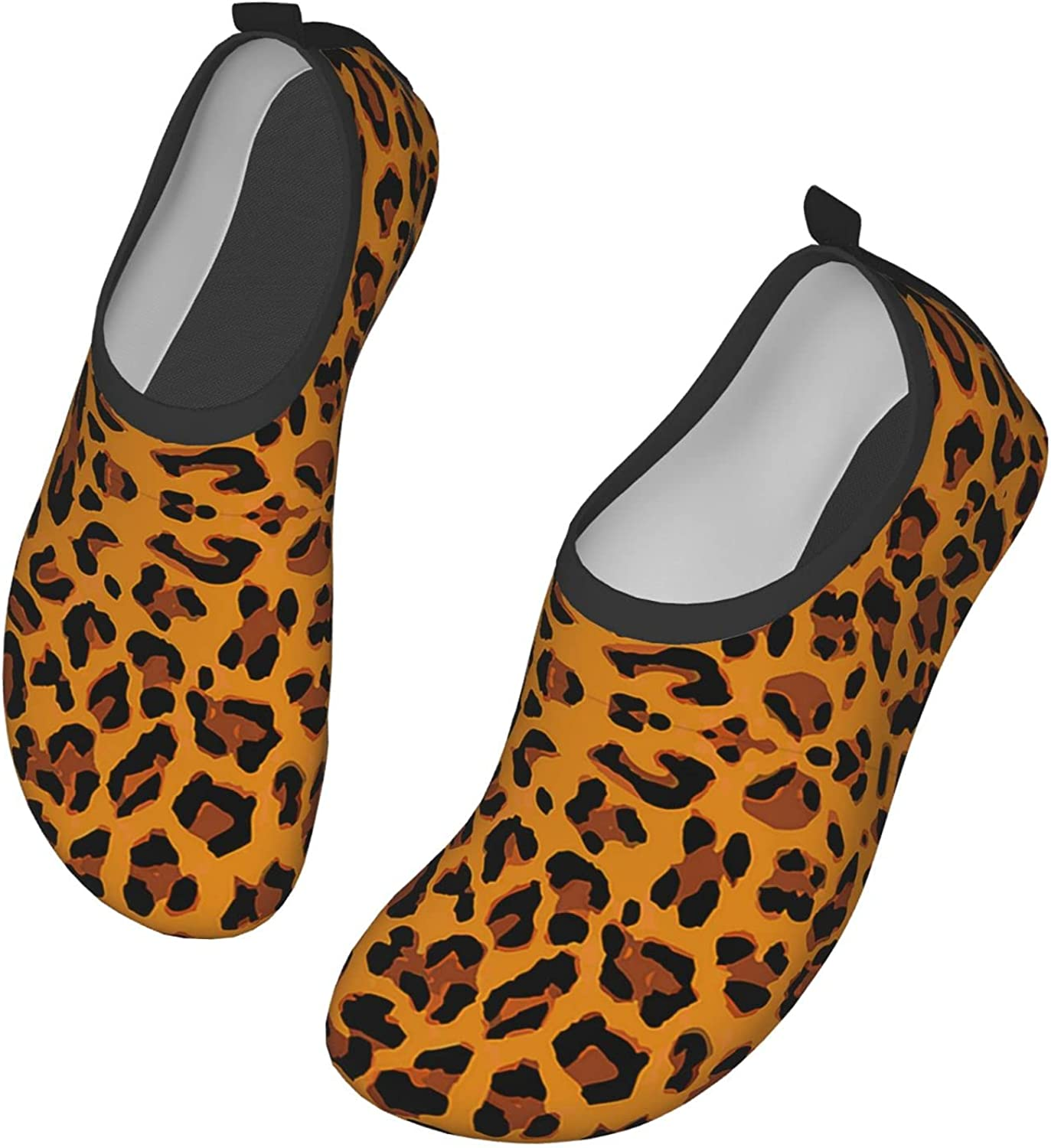 VEIMER Max 40% OFF Leopard Fashion Water Shoes Beach Quick-Dry Non- online shopping Barefoot