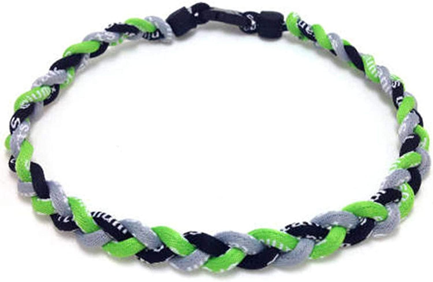 OOIN Package of 12 Baseball Titanium Necklaces for Boys Tornado Braided Rope Necklace