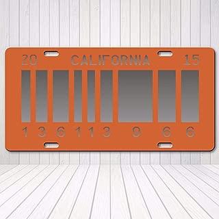 Cheeper Eletina Ds Back to The Future 2 Barcode License Plate Delorean Prop Replica Tag Outatime