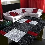 Fabelia Alfombra de Diseño Moderno Hawaii - Jaspeada, Rojo, 160 x 230 cm