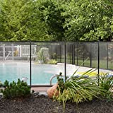 XtremepowerUS 90121 Safety 4' X 12' Black Roll Over Image to Zoom Swimming Pool Fence See-Thru