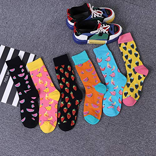 VYNTM Socken-Dame Cartoon Fruit Strawberry Banana Socks Sports beiläufige Socken