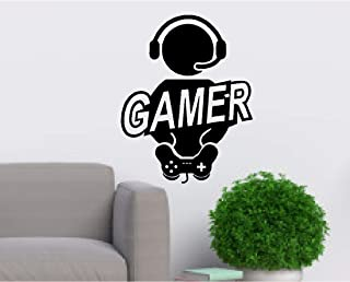 Boy Video Gamer Joystick Computer Game Mural Art Wall Vinyl Decal Sticker for Kids Boys Bedroom - Car, Laptop,Wall Room (Designs # 2)