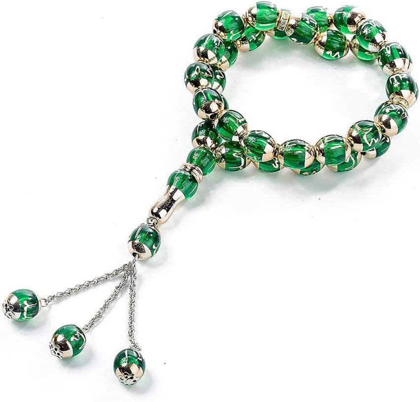 Holy Muslim Prayer Beads Allah Round Bead Rosary T/ásbi Worship Supplies