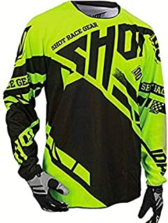 Motocross Jersey Maillot Ciclismo Downhill Jersey Off Road Mountain Clycling Long Sleeve Mtb Jersey LBYGDQ (Color : Ivory, Size : 4XL)