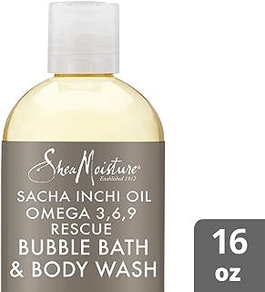 SheaMoisture Sacha inchi oil omega 3, 6, 9 rescue & replenish bubble bath & body wash, 16 Fluid Ounce