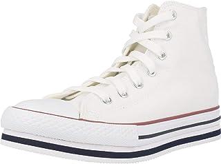 Converse Chuck Taylor Platform EVA Hi Everyday Ease Blanco/Azul (White/Midnight Navy) Tela Adolescentes Entrenadores Zapatos
