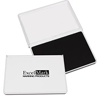"""ExcelMark Ink Pads for Rubber Stamps Medium Size 2-5/8"""" by 4-1/4"""" (Black)"""