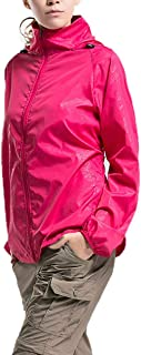 Lanbaosi Women's Lightweight Jacket Uv Protect+Quick Dry Windproof Skin Coat X-Small Rose Red