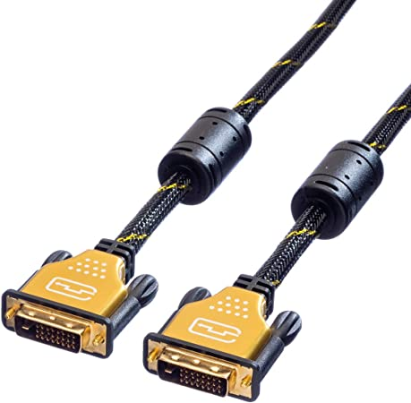 Roline Gold Monitor Cable Dvi M M 24 1 Dual Link 5 M Computers Accessories