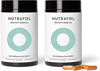 Nutrafol Women's Balance Hair Growth Supplement For Thicker, Stronger Hair Peri- and Postmenopause (4 Capsules Per Day - 2...