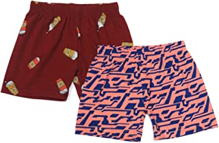Veronica Pack of 2 Shorts for Baby Girls Red Printed