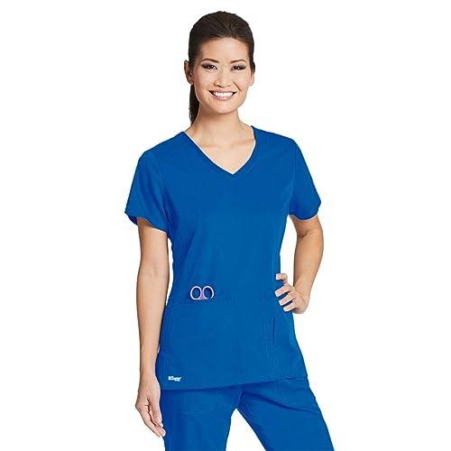 2cc4120c0b Grey s Anatomy Active 41423 Women s Side Panel V-Neck Solid Scrub