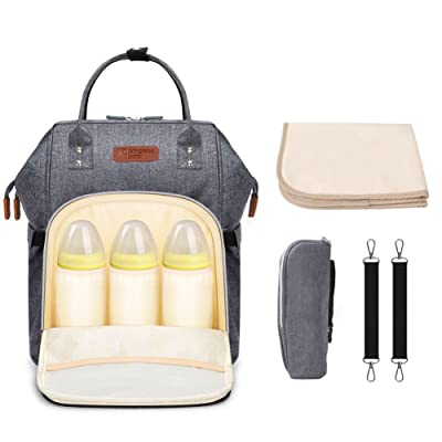 Diaper Bag Baby Nappy Backpack with Changing Pa...