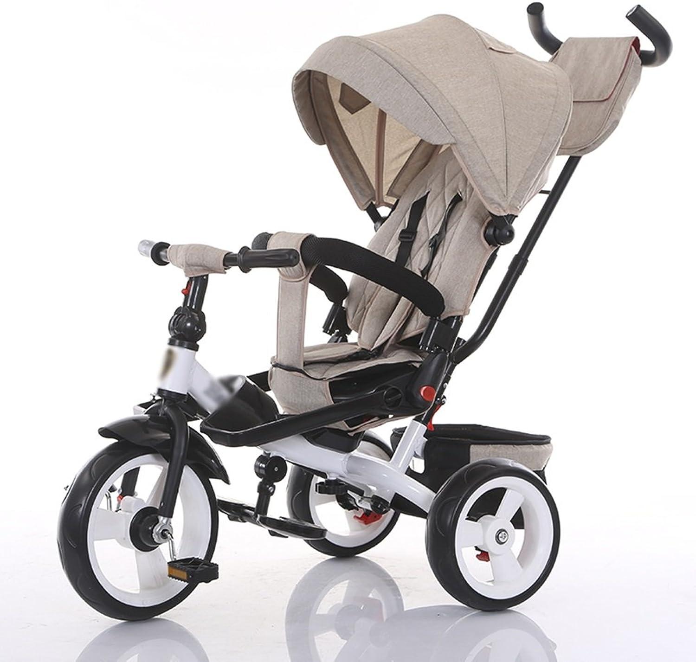 Tricicli Per Bambini Spinta A uomoo Cesto Portaoggetti Parasole Eva Soft rueda Trolley 2-6 Anni Vec a Bicicletta
