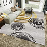 Kunsen alfombras Dormitorio Matrimonio Decoracion hogar Salon Alfombra Corta Gris para Dormitorio Sala de Estar Caminar Comodidad Alfombra Infantil niño 80X120CM 2ft 7.5' X3ft 11.2'