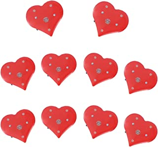 BinaryABC Valentine's Day Heart Brooches and Pins,Flashing Light Brooch,Valentine's Day Supplies,10Pcs