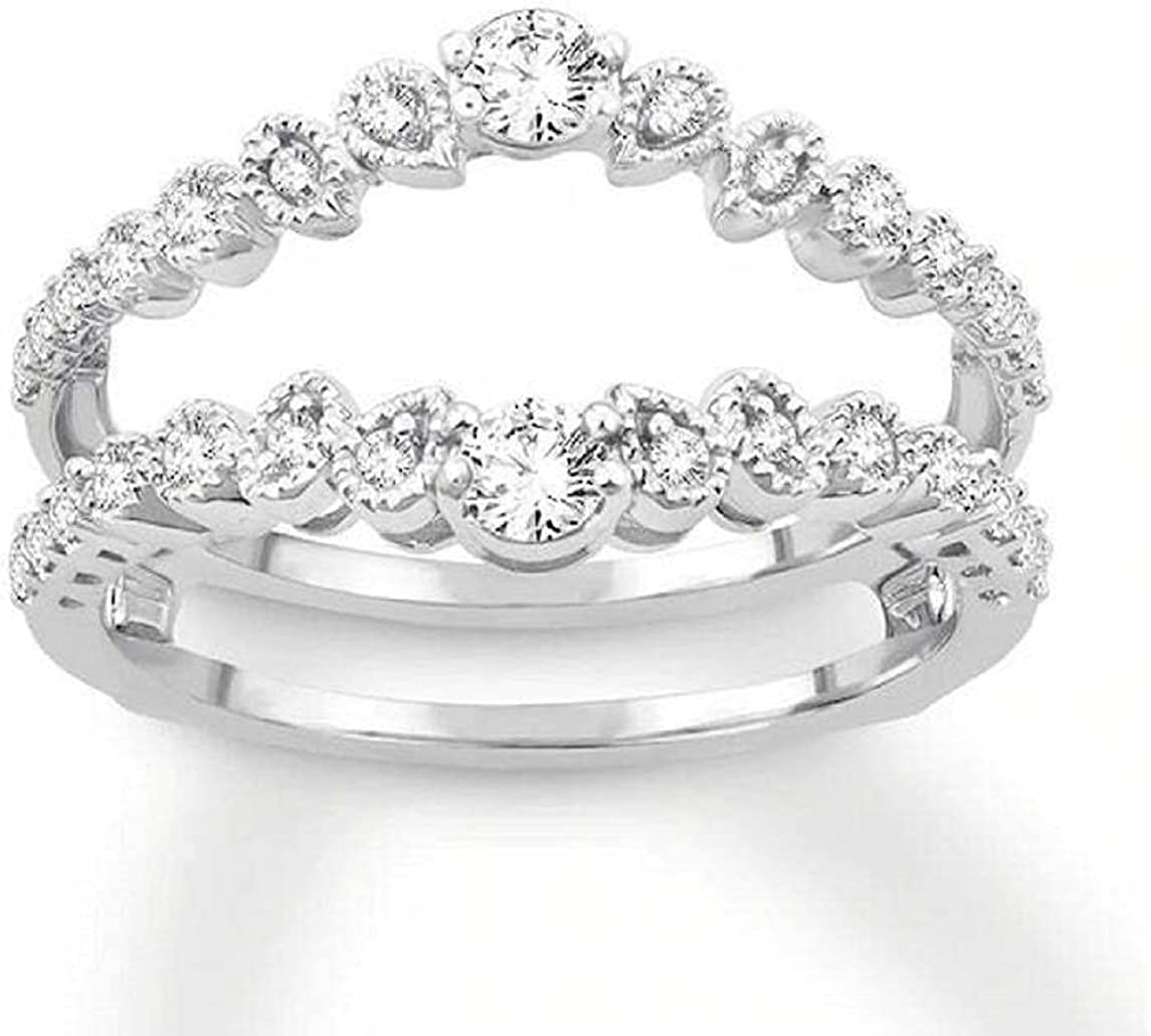 Ismatara Direct store Round OFFicial store Cut White Diamond in Gold Silver 925 Sterling 14K