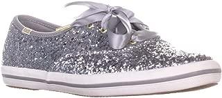 Keds Women's Champion Glitter Kate Spade Sneakers in Silver US