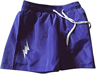 IHGTZS Shorts for Men, Summer Fashion Men's Stickers Pocket Tether Elastic Sports Pants Shorts