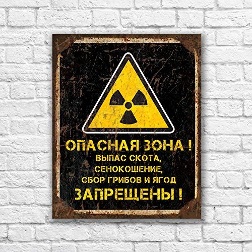 43LenaJon Chernobyl zone Pripyat Schild Gefahrenzonenzeichen Strahlungsschild Kernkraftstation S.T.A.L.K.E.R Stalker Verbotener Bereich Radioaktiv Si