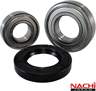 Front Load Bearings Washer Tub Bearing and Seal Kit with Nachi bearings, Fits Bosch Tub 245703 (Includes a 5 year replacement warranty and link to our