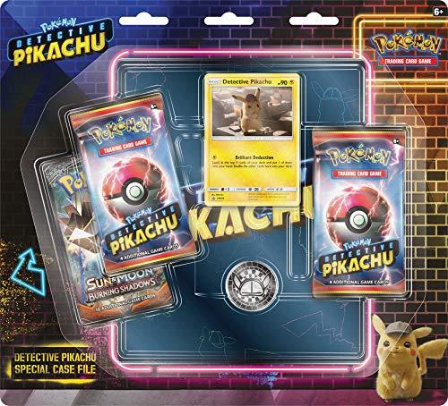 Pokemon 820650806278 Detective PikachuSpecial Case File TCG: 3 Booster Pack | Movie Binder, Multicolor