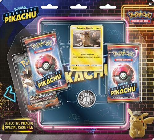 Pokemon Detective PikachuSpecial Case File TCG: 3 Booster Pack | Movie Binder