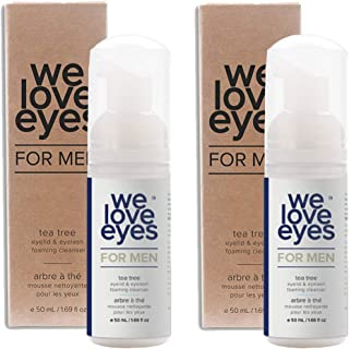 All Natural Tea Tree Eyelid Foaming Cleanser/Wash FOR MEN - We Love Eyes - Relief for Blepharitis, Demodex, Dry Eye Sympto...