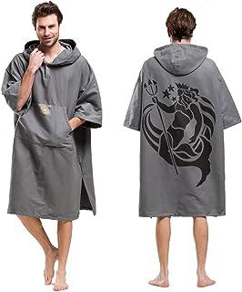 comprar comparacion Toalla de natación para surf en la playa, peso ligero, cambiador de toalla poncho con capucha, talla única