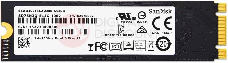 SanDisk 512GB X300s Single Sided MLC 80mm (2280) SATA III (6G) M