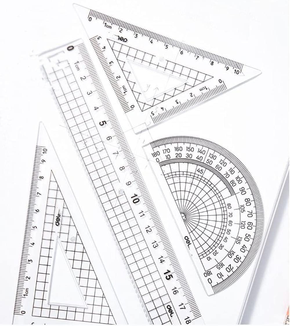 Plastic Protractor Student Rulers Set Protractors Square Pr Ranking TOP6 Math Cheap