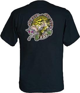 フィッシングTシャツ GYOTTOO スモールマウスバス バックプリント 黒