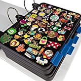 Enamel Pin Display Pages (6 PK) - Display and Trade Your Disney Collectible Pins in Any 3-Ring Binder - Pages Lay Flat with Pinbacks and NO Sagging! (Black - Pins Not Included)