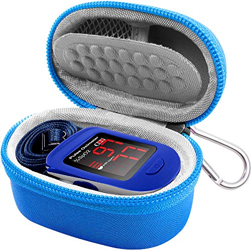 Case Compatible for ZPro Series 500DL/ BL/CMS 50-DL/Facelake/Innovo Deluxe/Facelake/Santamedical/Fingertip P.O Blood Oxygen Saturation Monitor(CASE Only)-Blue