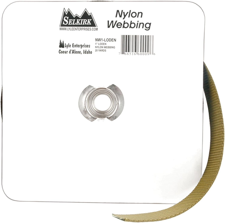 Lyle Nylon Webbing, 1 inches x 20Yard, Loden,