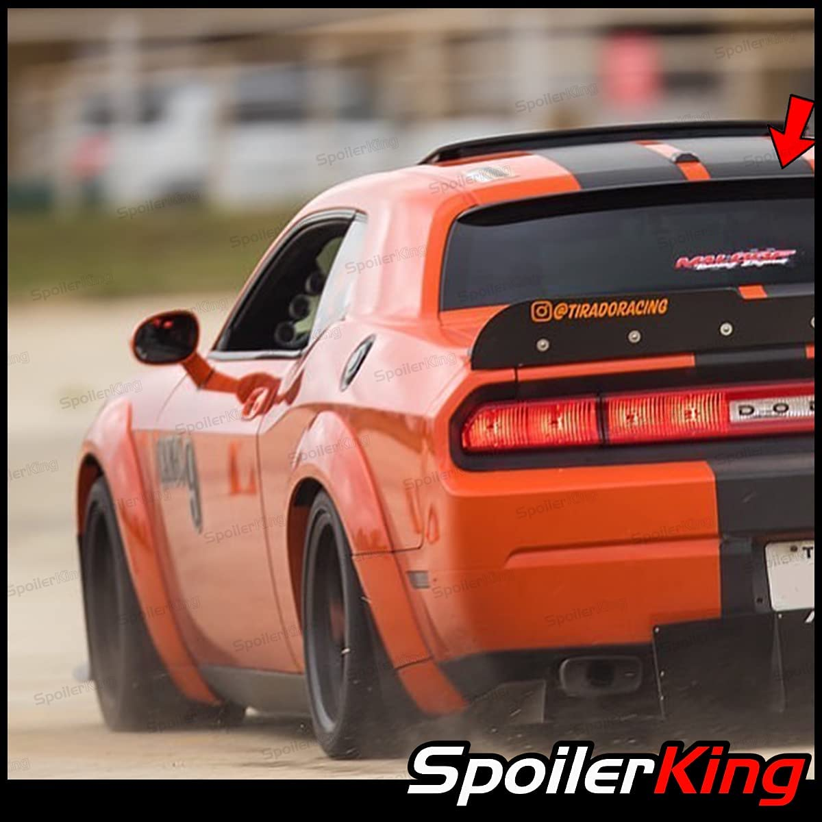 SpoilerKing Rear Super popular specialty store Window Roof Spoiler 40% OFF Cheap Sale compatible with Dodge Chall