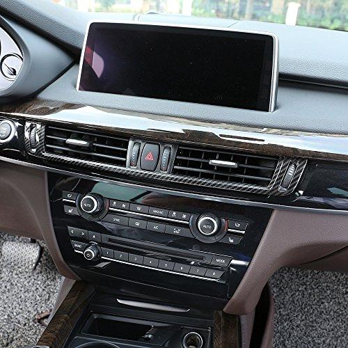 Fibre de carbone pour console de climatisation X5 X6 F15 F16 2015–2017 ABS